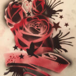 Airbrush Tattoo Rose